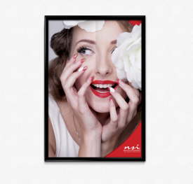red Nail Art Poster