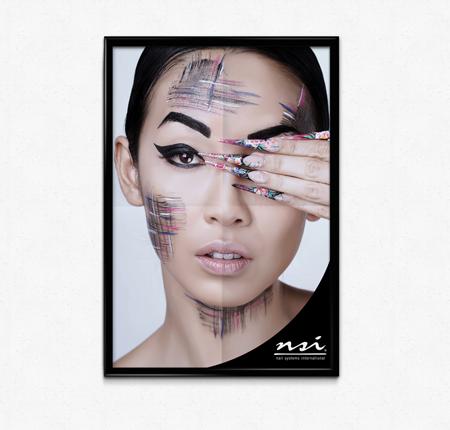One Stroke Nail Art Poster