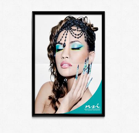 Teal Nail Art Poster