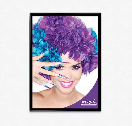 Purple Nail Art Poster