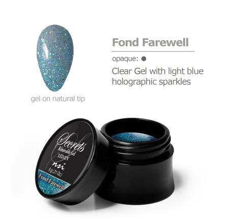 light blue sparkles gel color