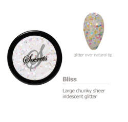 Sheer iridescent glitter color