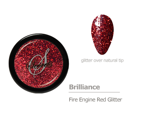 Red glitter color