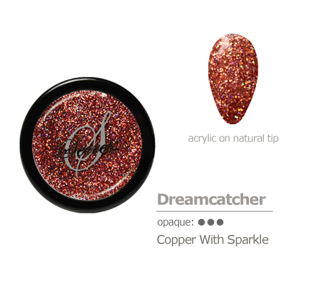 copper with sparkle acrylic color