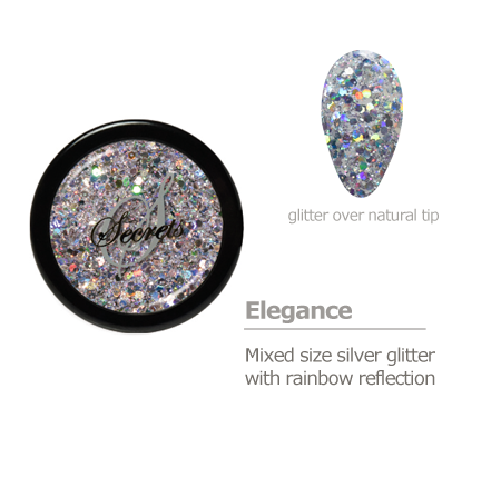 silver rainbow glitter color