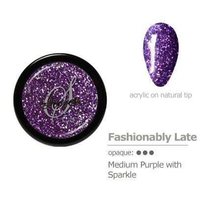 Purple with sparkle acrylic color