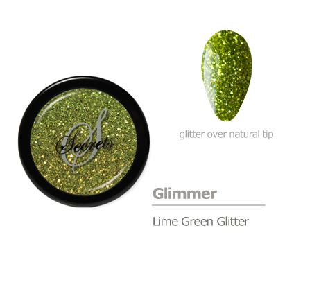 Lime green glitter color
