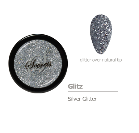 Silver glitter color