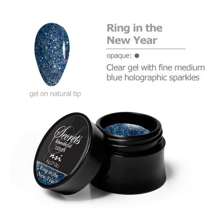 blue sparkles gel color