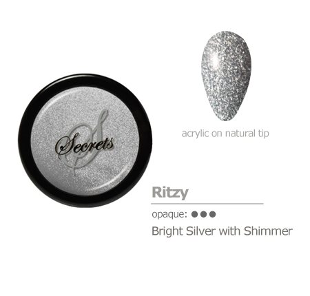 Silver with shimmer acrylic color