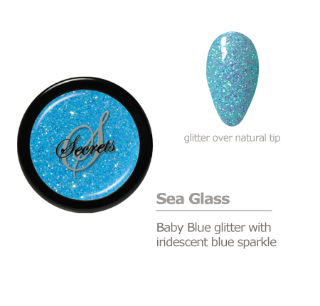 baby blue glitter color with blue sparkle