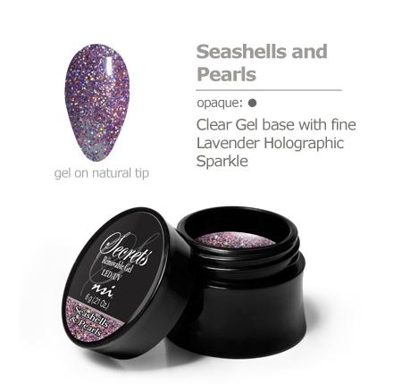 Lavender Holographic gel color