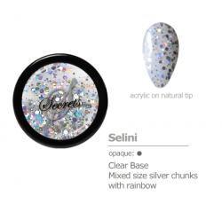 Silver glitter rainbow acrylic color