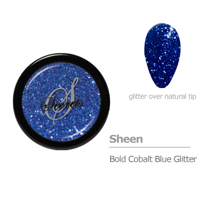 Blue glitter color