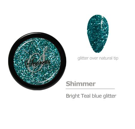teal blue glitter color