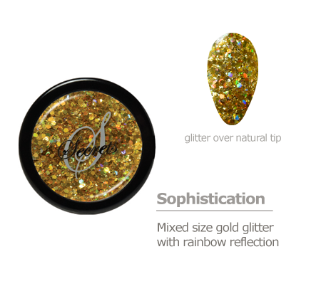 gold rainbow glitter color