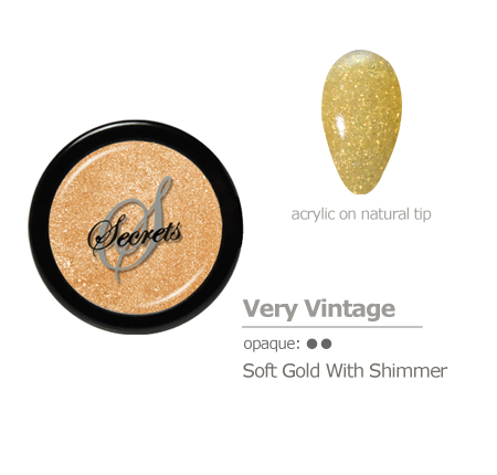 Gold with shimmer Acrylic color
