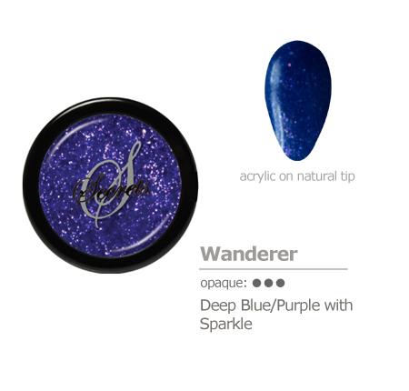 deep blue/purple with sparkle acrylic color