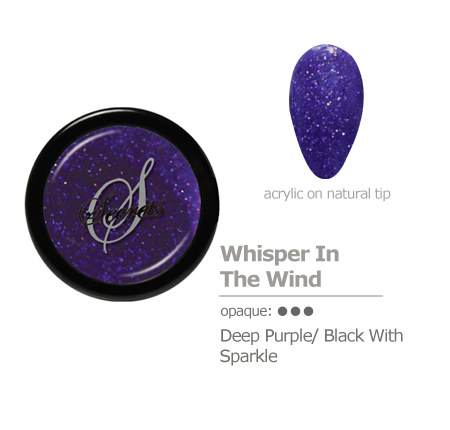 Purple/Black sparkle acrylic color