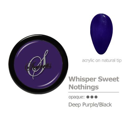 Deep Purple/Black Acrylic color