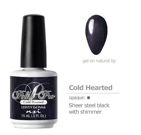 Sheer steel black with shimmer gel polish
