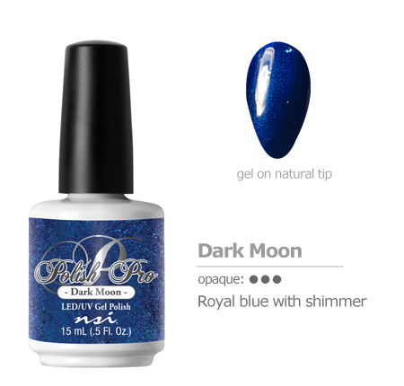 royal blue with shimmer gel polish