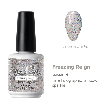 fine holographic rainbow sparkle gel polish