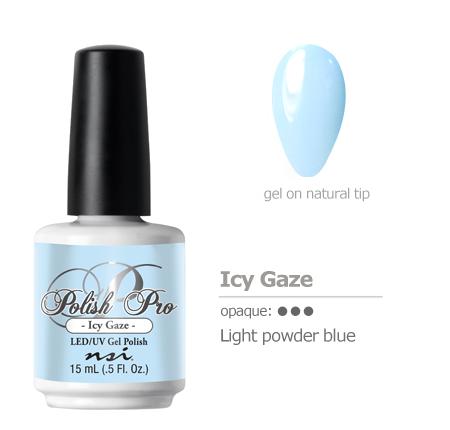 light powder blue gel polish