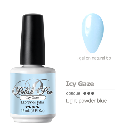 light powder blue gel polish