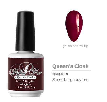 sheer burgundy red gel polish