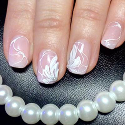 Easy Pearly Flower Nail Art Design See More Gel Secrets Gels